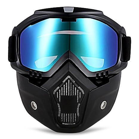 Amazon.es: Gafas de sol para motocicleta con máscara ...