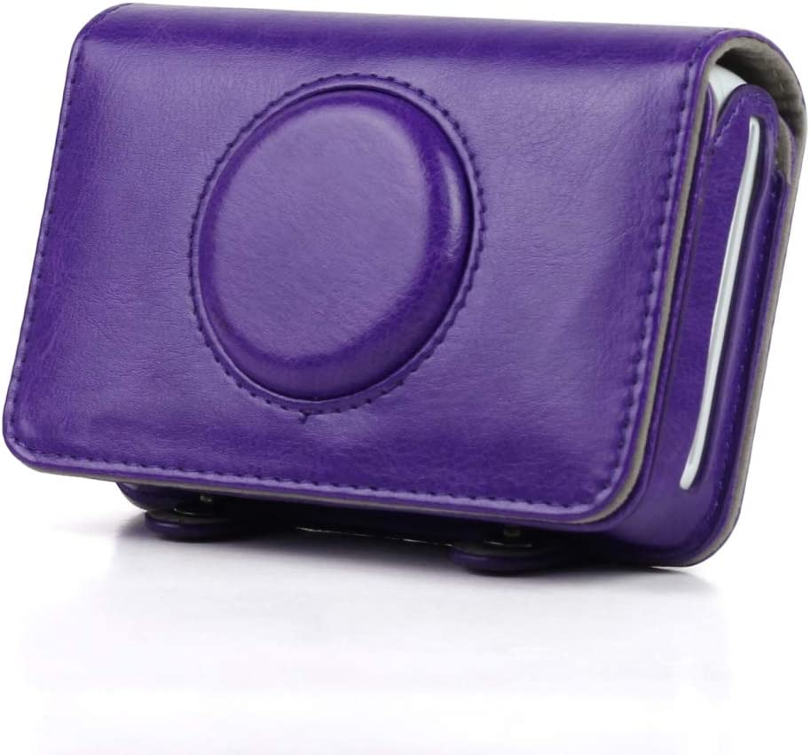 Color : Black ZQ House Solid Color PU Leather Case for Polaroid Snap Touch Camera