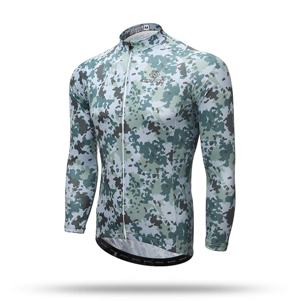 US Army Green Camouflage Cycling Jersey