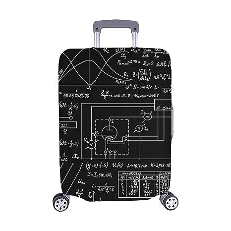 Vector Electrotécnico Patrón Inconsútil Fórmulas Manuscritas Estampado Spandex Maleta de Viaje Protector de Equipaje Cubierta de