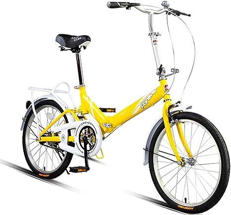WJSW Bicicletas para niños Bicicleta Plegable Bicicleta de 20 ...