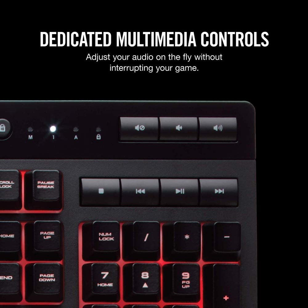 MMFFYZ Wired Keyboard Detachable Hand Rest QWERTY Layout with 6 Programmable Macro Keys Membrane Keyboard Multi-Key No Conflict USB Keyboard Wired 3 Zones Backlight
