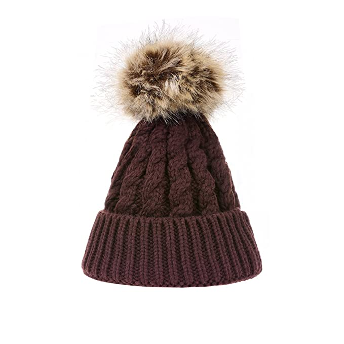 TinTop Mütze Baby und Mutter Warme Feinstrick Beanie Mütze mit ...