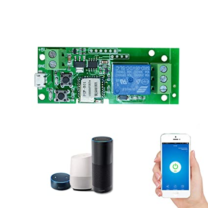 OWSOO Sonoff USB DC5V Wifi Switch Wireless Relay Module Smart Home  Automation Modules Phone APP Remote Control Timer Switch Alexa Voice  Control for