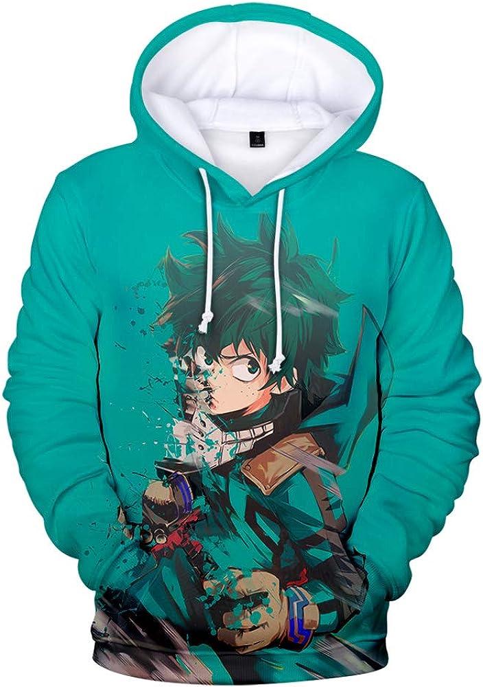 Abluewhale My Hero Academia 3D Print Hoodie Boys Anime Sweatshirt Pullover Anime Cosplay Costume
