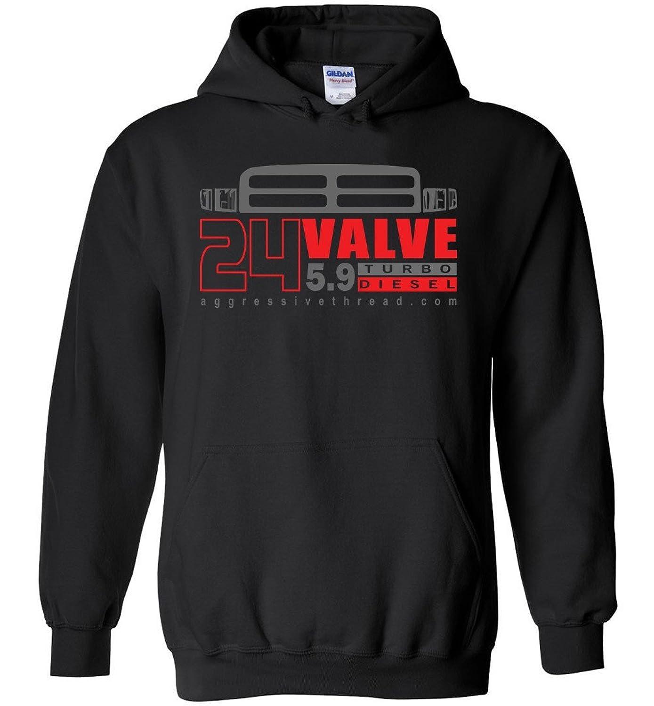 Aggressive Thread 24 Valve Second Gen Dodge RAM Turbo Diesel Hoodie Sweatshirt
