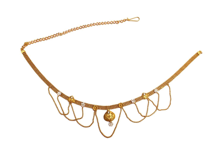 Glamorous Collection Indian Sari Chain Gold Belly Waist Sari Saree Chain Jewelry/Belly Dance Kamar Band by Glamorous Collection