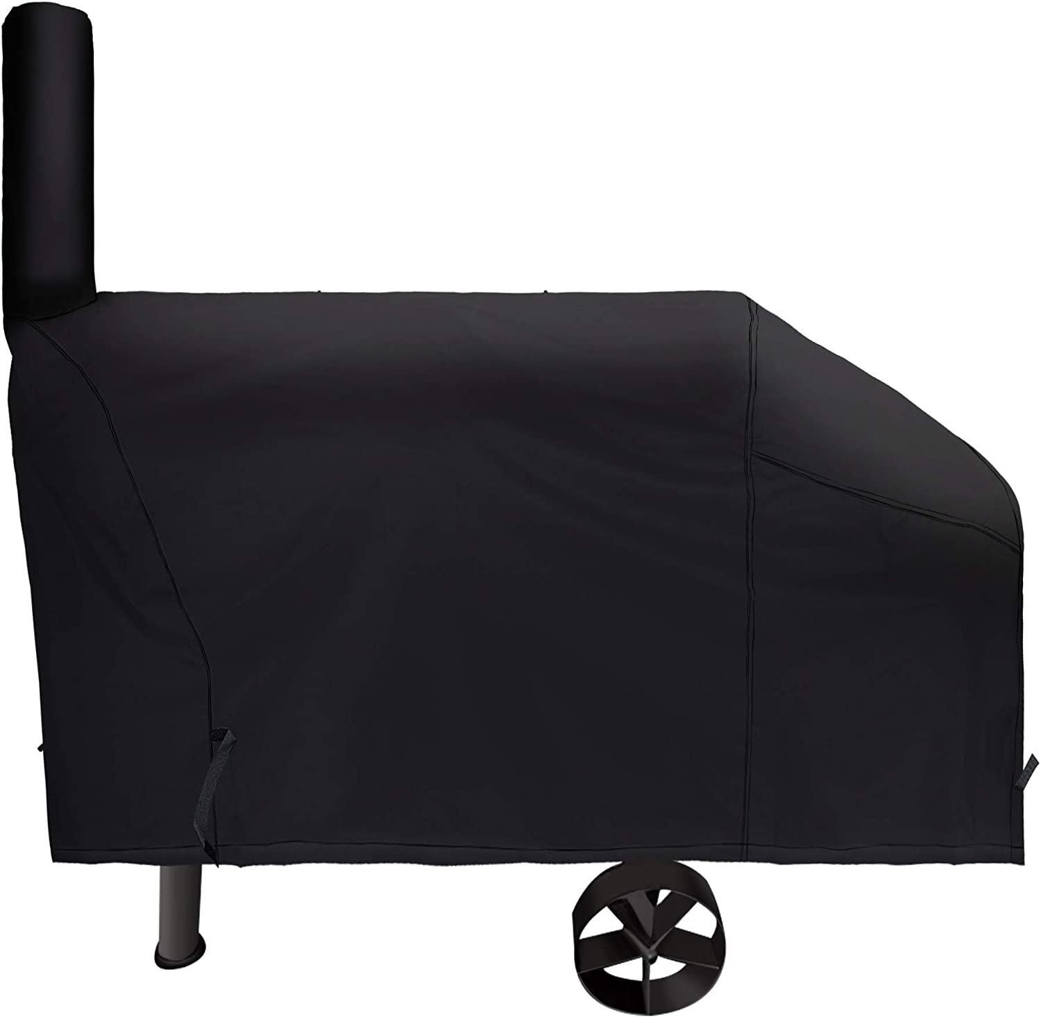 i COVER 66 Inch 600D Heavy-Duty Water Proof Patio Outdoor Canvas Offset BBQ Barbecue Smoker Cover G21610 for Brinkmann Char-Broil Char Griller Oklahoma Joe Landmann