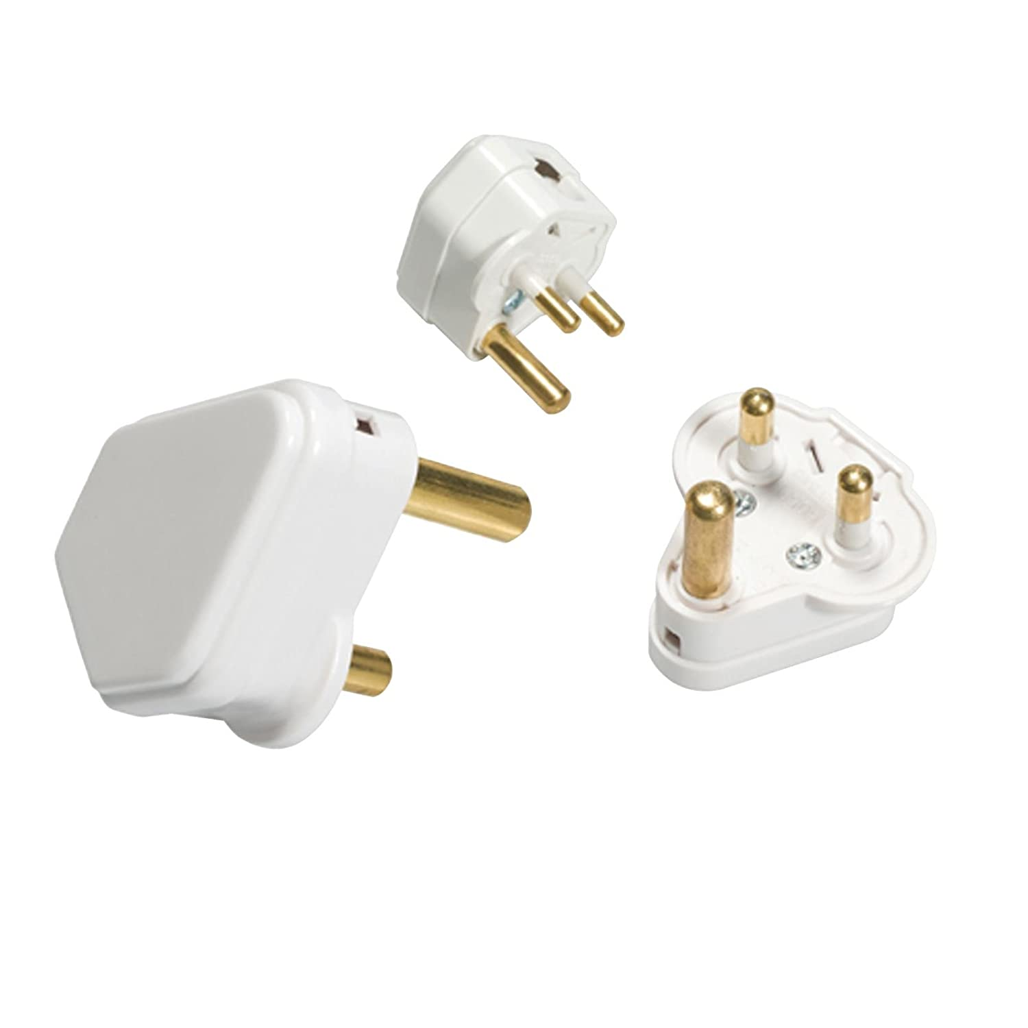 Knightsbridge Plug Britain with Round Pins A White 2 MLA