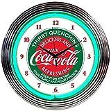 Neonetics Drinks Coca Cola Evergreen Neon Wall Clock, 15-Inch For Sale