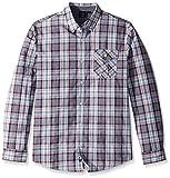 Burnside Men's Crushin It Long Sleeve Button Down Solid Woven Shirt, Greyish, Large