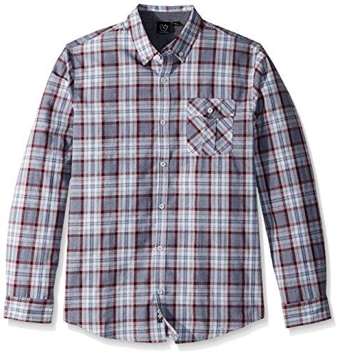 Burnside Mens Crushin It Long Sleeve Button Down Solid Woven Shirt