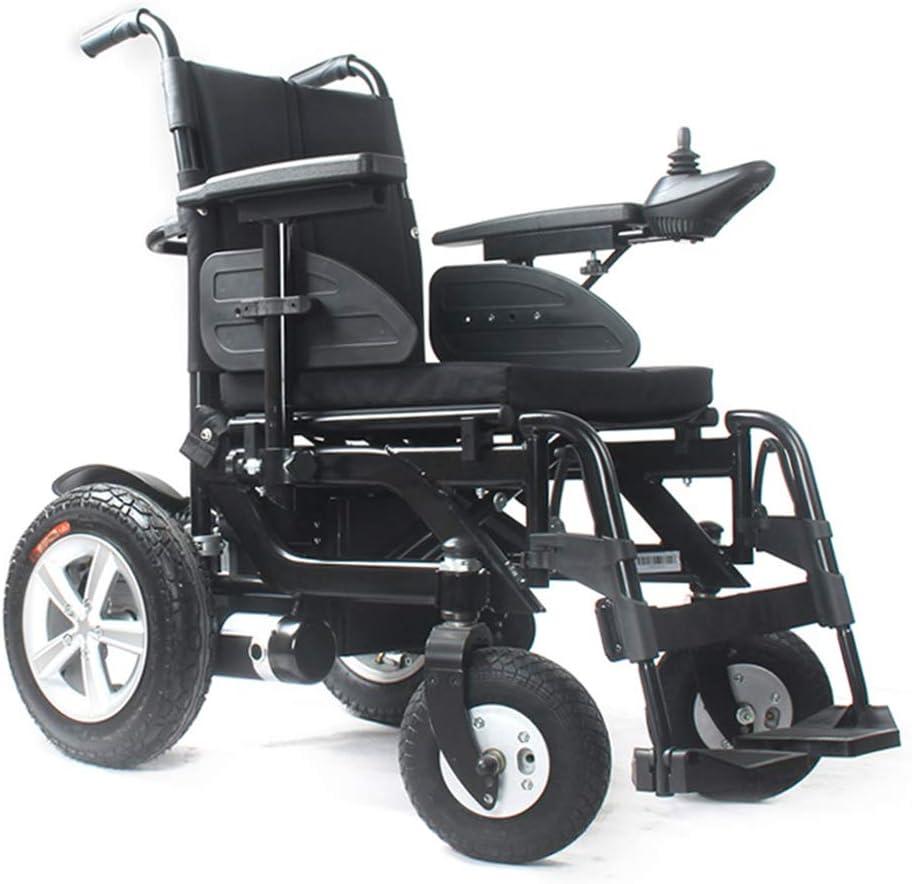 DAZHONG Silla de Ruedas eléctrica de Gama Alta, Silla eléctrica portátil Plegable, Rango de hasta 21,7 Millas Ideal para Personas Mayores y discapacitadas