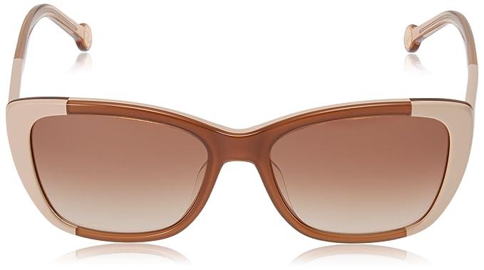 Carolina Herrera SHE6495506UH - Gafas de Sol para Mujer, Marrón, 55