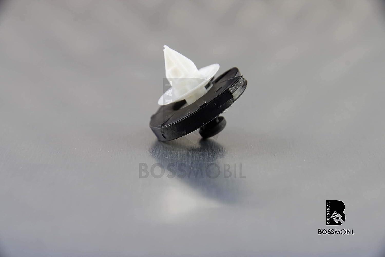 3 St/ück Original BOSSMOBIL kompatibel mit ZIERLEISTEN INNEN T/ÜRVERKLEIDUNG BEFESTIGUNG CLIP POLO #NEU# 6N0868243A 28 X 12 X 9,5 mm Menge