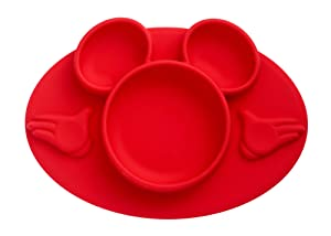 The First Years Disney Mickey Mouse Silicone Place-mat, Red