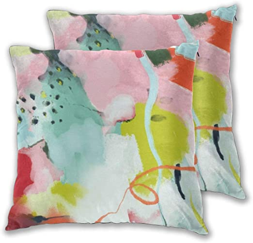 Cushion Covers Pack of 2 Cushion Covers Throw Pillow Cases Shells for Couch Sofa Home Decor Landscape In Spring 45cm ...