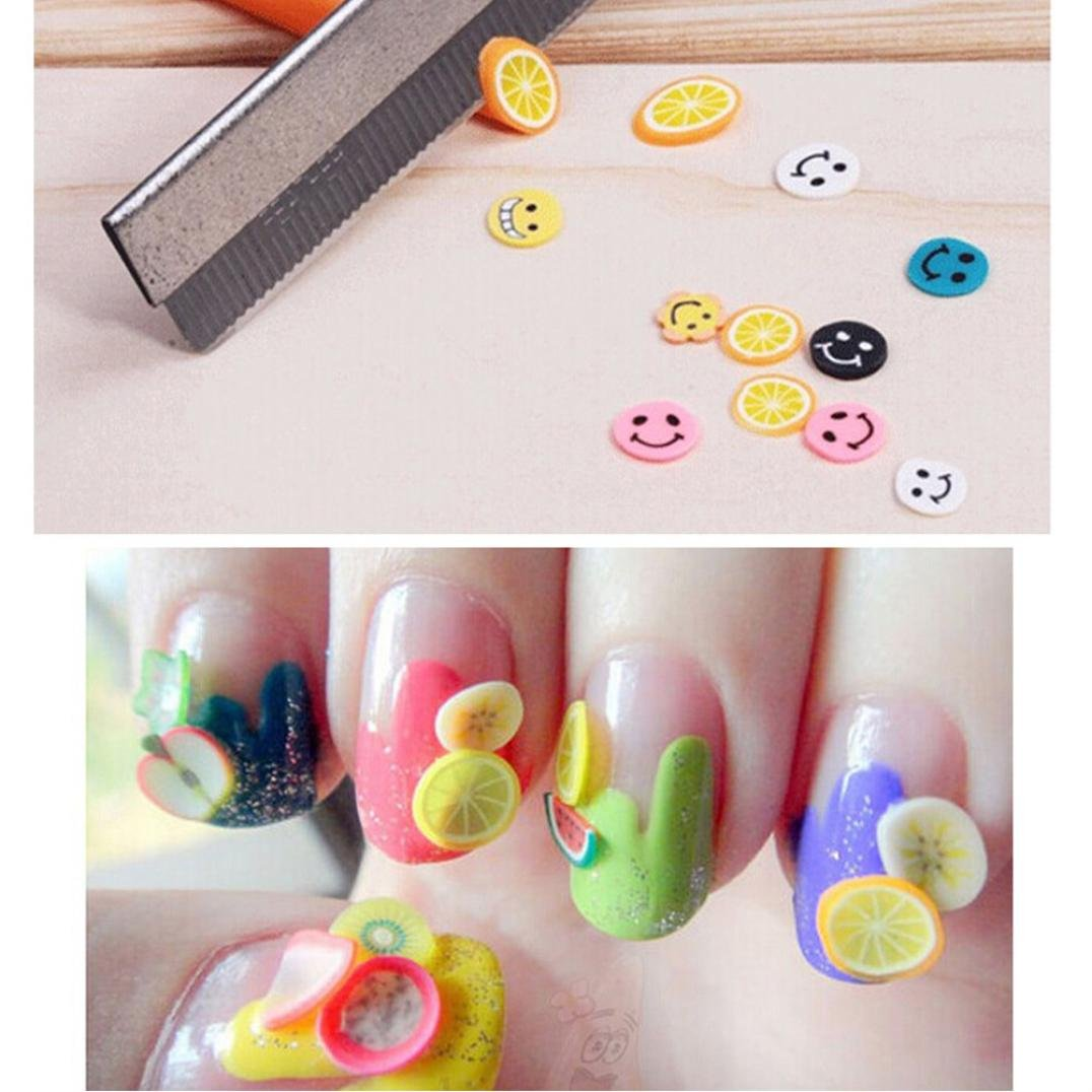 Alonea 50pcs 3d Nail Art Fimo Canes Stick Rods Polymer Clay Stickers