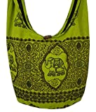 Lovely Creations's Hippie Boho New Elephant Crossbody Bohemian Gypsy Sling Shoulder Bag ''Medium'' Size (M Pear green)