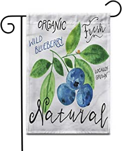 """Awowee 28""""x40"""" Garden Flag Watercolor Wild Blueberry in 1950S 1960S for Farmers Outdoor Home Decor Double Sided Yard Flags Banner for Patio Lawn"""