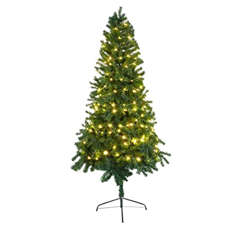 livebest 7 ft stand artificial christmas tree with metal legs 1000 tips decorate pine tree