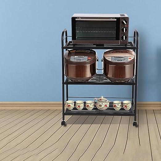 Soporte de microondas Piso de la cocina Estante de almacenamiento ...