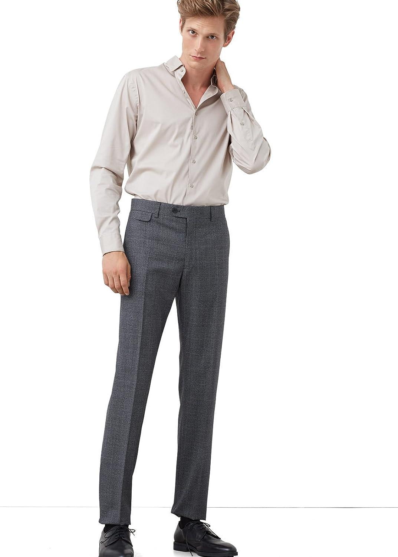 MANGO MAN - Prince of wales wool-blend suit Formal trouser