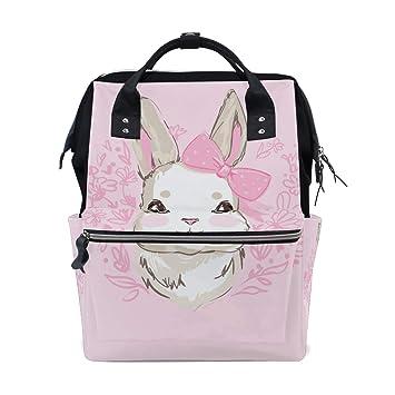 Amazon Com Folpply Hand Draw Cute Bunny Rabbit Diaper Bags Mummy
