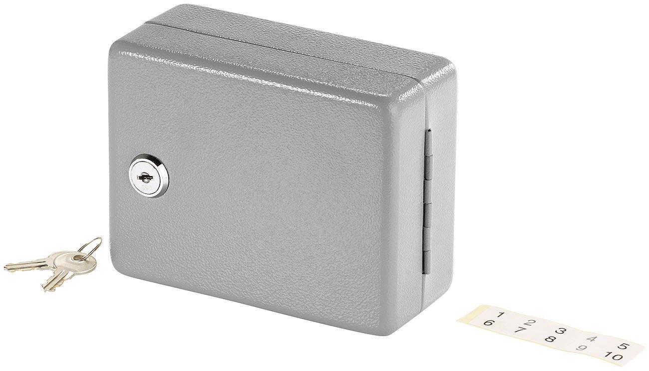Mini armoire /à cl/és en acier pour 10 cl/és