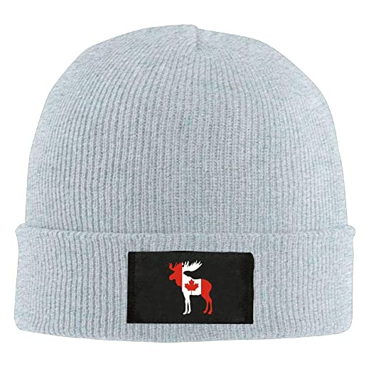GQOP Knit Beanie Canadian Flag Moose Winter Hat Skull Cap Men Women at  Amazon Men s Clothing store  57aa5e1a732