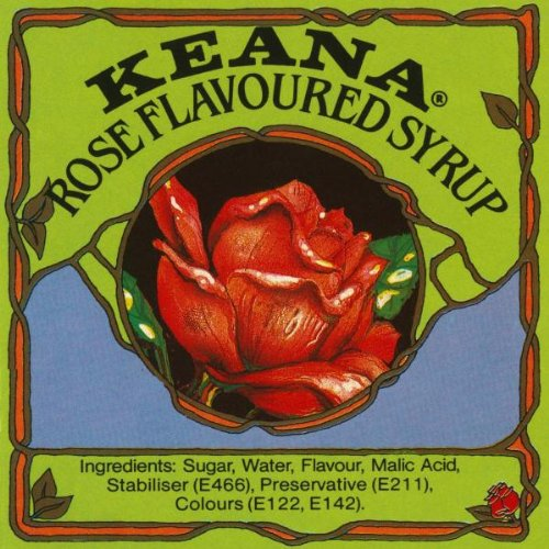 Keana Rose Flavoured Syrup By: Retrolabel 18 x 18 Art Giclee Print
