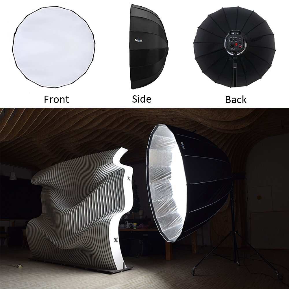 Selens 42''/105cm Hexadecagon Portable Quick Folding Speedlite, Studio Flash, Speedlight Umbrella Softbox with Bowens Speedring Mount for Photo Studio Lighting Flash Light by Selens (Image #2)