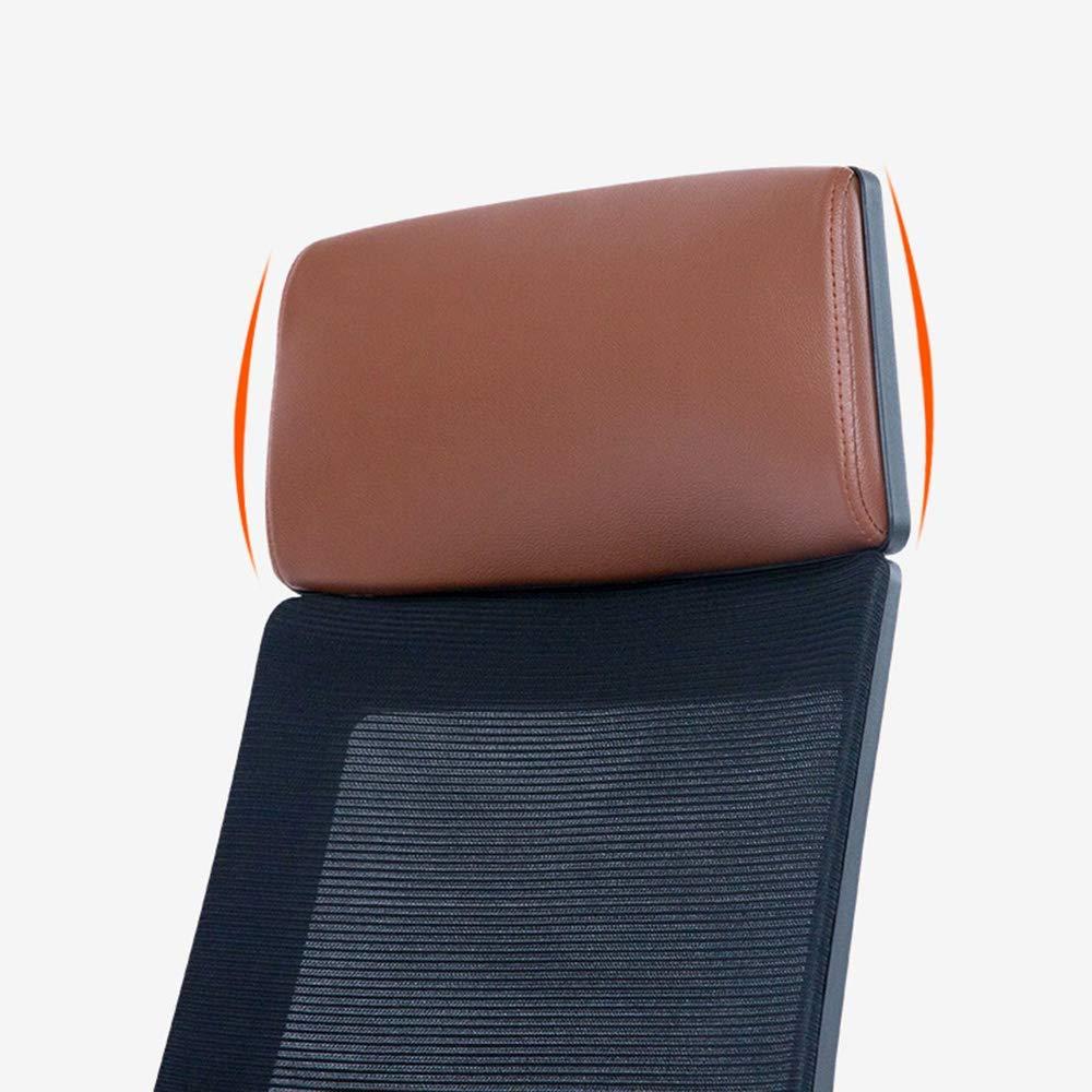 Barstolar Xiuyun datorstol reptålig ergonomisk kontorsstol explosionssäker pneumatisk stång modern enkelhet hushåll hög densitet svamp fyllning plast (färg: Brun) Brun