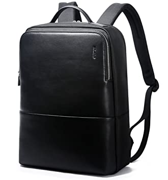 Amazon.com: Bopai Leather Backpack for Men 15 inch Laptop Backpack ...