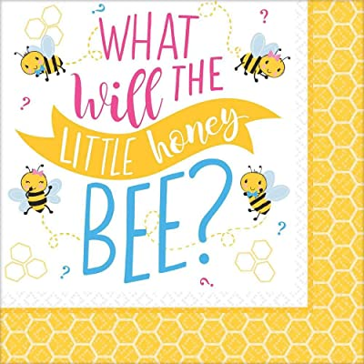 Amscan What Will It Bee? Luncheon Napkins (16 ct): Toys & Games