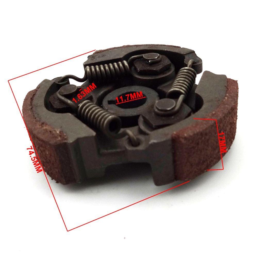 Clutch de embrague resistente Stoneder para motores de 2 tiempos (motores 47 cc, motores 49 cc, minimoto, moto de cross para niños, ATV y quads): Amazon.es: ...