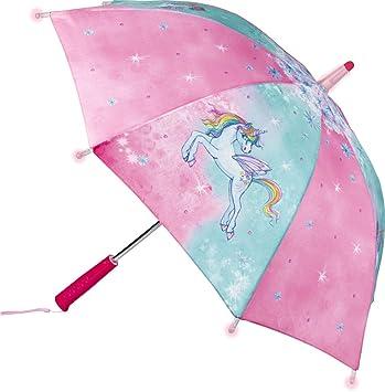 Einhorn Paradies Paraguas Unicornio con Diferentes Efectos Luminosos 70 cm Linterna