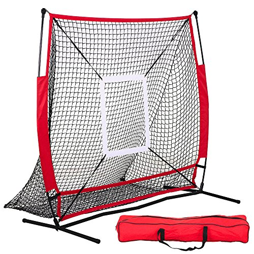 Baseball Practice Net Pitching Batting Hitting Strike Zone Softball Thrower by Tumsun
