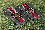 Atlanta United FC Cornhole Game Set Onyx Stained Stripe Version