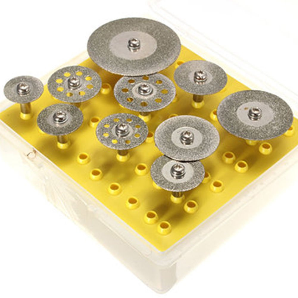 Diamond Cutting Discs Cut-off Stone/Jade Wheel Set For Dremel Rotary Tools HSeaMall