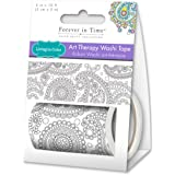 Living In Color Paper Craft Washi Tape 2in x 3m Washi Tape Art Therapy, Unique Adult Coloring Masking Tape, Paisley