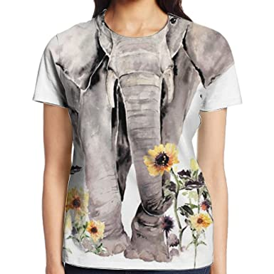 7d84a8e59 May Bohemian Elephant Boho Tee Short Sleeve T-Shirt Entertaining Dry Fit  For Women Street