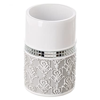 creative scents mirror damask bathroom tumbler cup decorative rinse cup for water best tumblers - Bathroom Tumbler