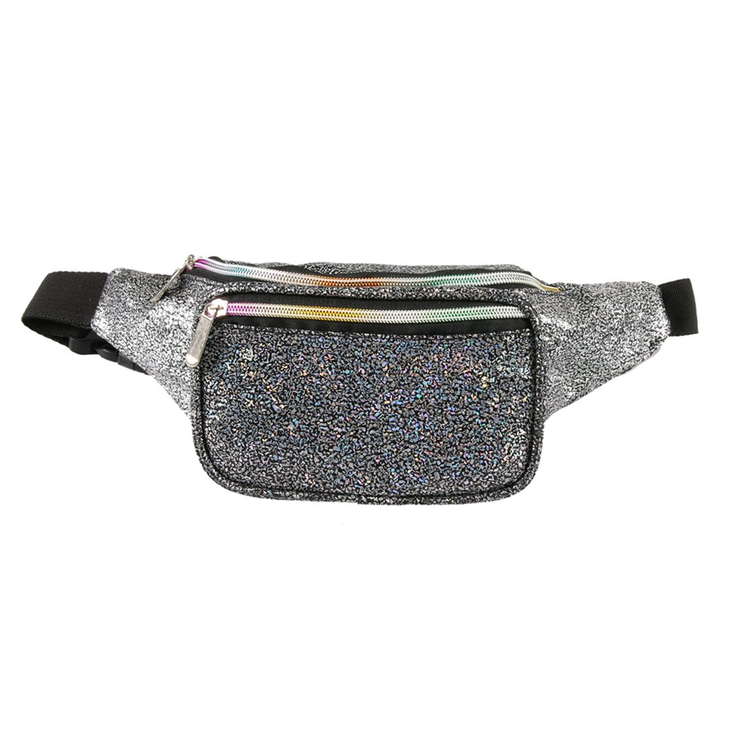 386ec68f519f Holographic Fanny Pack for Women - Waist Fanny Pack with Adjustable Belt  for Rave