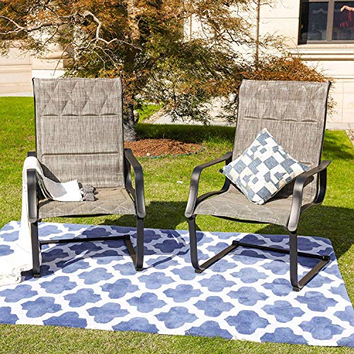Top Space Outdoor Chairs Set Patio Furniture Sling Back Chair Garden Conversation Sets for Backyard Garden,Textilene Mesh Fabric,All Weather Metal Frame