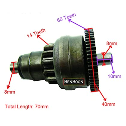 GY6 50cc Engine Parts Start Clutch Gear Bendix 139QMB Chinese Scooter Parts ATV Part Znen Baotian Taotao Roketa