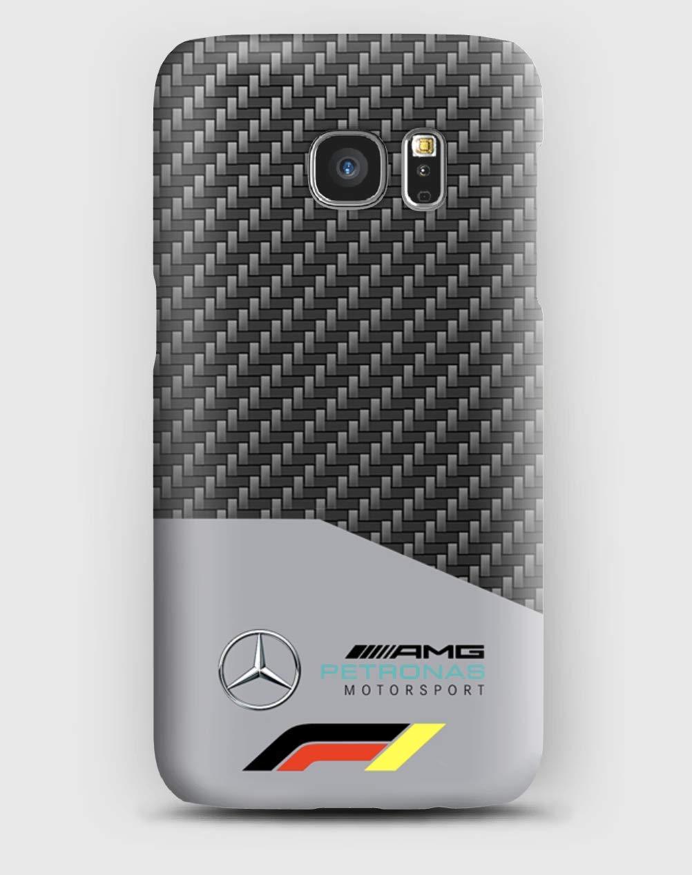 F1 Mercedes Funda para el Samsung S6, S7, S8, S9, A3, A5, A7A8, J3, J5, Note 4,5,8,9,