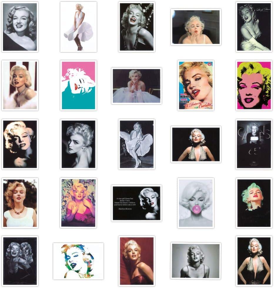 Actress Marilyn Monroe Stickers Decal 25PCS, Waterproof Durable Trendy Vinyl Laptop Decal Stickers Pack for Teens, Water Bottles, Computer, Travel Case (Marilyn Monroe)