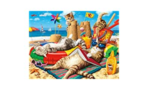 Buffalo Games - Cats Collection - Beachcombers - 750 Piece Jigsaw Puzzle