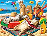 #5: Buffalo Games - Cats Collection - Beachcombers - 750 Piece Jigsaw Puzzle